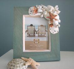 Beach Decor Shell Frame  Nautical Seashell by beachgrasscottage, $60.00