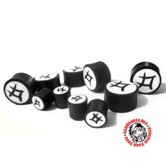 Bright logo's and the plugs are sold in pairs. Wooden Plugs, Tunnels And Plugs, Ear Gauges, Stretched Ears, Symbols, Detail, Icons, Glyphs