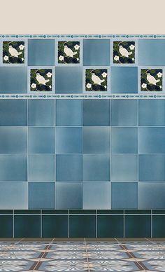 Verlegebeispiel F 164 V1, verlegebeispiel, f, 164, v1, art, nouveau, tiles, samples, wall, decorated
