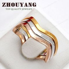 Cheap brand jewellery, Buy Quality jewellery brands directly from China jewellery fashion Suppliers: Three Crimp Love Lucy Family Mix Colors Wave Finger Rings Rose Gold Color Fashion Brand Rock Jewellery/Jewelry For Women Cheap Champagne, Rock Jewelry, Jewellery, Pretty Rings, Rose Gold Color, Colorful Fashion, Color Mixing, Fashion Brand, Women Jewelry
