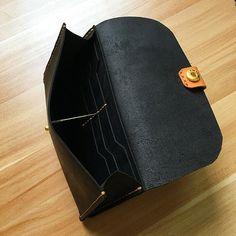 Handmade leather folded wallet vintage long wallet clutch phone purse wallet for women men