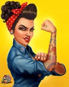 Rosie the Riveter - With Attitude - More Pin up style with my features :)