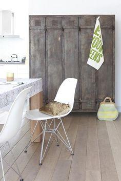 Eemnes home - Modern - Dining Room - Amsterdam - gosto design & lifestyle Vintage Lockers, Metal Lockers, Industrial Lockers, Vintage Industrial, Industrial Metal, Home Interior, Interior Decorating, Interior Design, Decorating Ideas