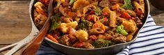 Cowboy Pasta Pasta Recipes, Beef Recipes, Dinner Recipes, Cooking Recipes, Cowboy Pasta Recipe, Pasta Dishes, Food Dishes, Mild Salsa, Cream Of Broccoli Soup