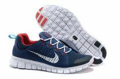 Nike Free Powerlines II Mens Shoes Blue Red