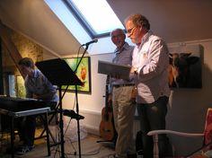 juni 2012 - opening Cultuurzomer Heuvelland in Wijlre ; sfeervolle voordracht uit eigen werk met muziek van Benoit en Hub