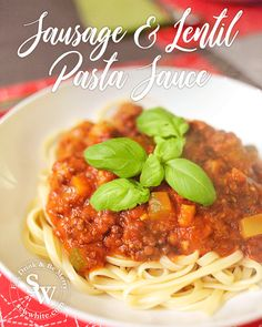 A rich and warming dish for winter nights is my dad's Sausage and Lentil Pasta. Cooked with chorizo and tomatoes it's a great healthy and tasty dish. Lentil Pasta, Pasta Sauce Recipes, Vegetable Puree, Fresh Garlic, Winter Food, Chorizo, Lunches And Dinners, Main Meals, Tasty Dishes