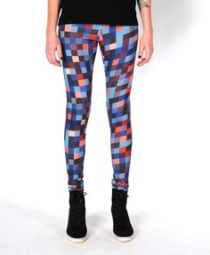 Do want. Pixel patterned leggings by DreamNation.
