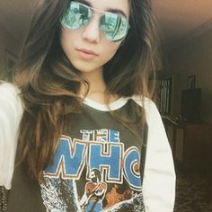 "Rowan Blanchard of Disney's ""Girl Meets World"" Sama Eyewear Sunglasses: http://samaeyewearshop.com/products/louis-w-precious-metal-lenses"