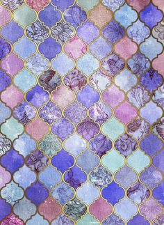 colores, rombos, violeta, wallpapers, patrones