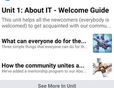 This guide helps all the newcomers (everybody is welcomed) to get acquainted with our community, learn more about ideas and principles, important for us, get to know what themes we discuss, topics we speak about and of course the main aim and purposes of our community. Getting To Know, Welcome, How To Get, The Unit, Community, Learning, Ideas, Studying, Teaching