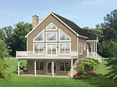 ePlans A-Frame House Plan – Roomy Vacation Cottage – 1691 Square Feet and 4 Bedrooms from ePlans – House Plan Code HWEPL77516