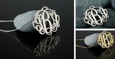 Personalized Sterling Silver or 18kt Gold Plated Monogram Necklace + *HOT* Deals on Jane.com