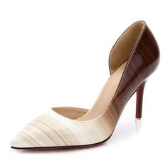 16 Spring Sexy High Heel Shoes Women Pumps Plus Size Thin Spike Heel Shallow Opening Single Leather Lady Wedding Shoes ZK35