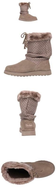 Skechers Womens Keepsake Lazy Bones Taupe Winter Comfort Boots 8 M - Love these boots. Cute and o expensive. And not too warm like the Ugg Comfortable Boots, Ugg Shoes, Winter Boots, Skechers, Lazy, Bones, Uggs, Taupe, Fashion