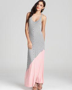 Ella Moss Dress - Wren Multi Striped Maxi Dress