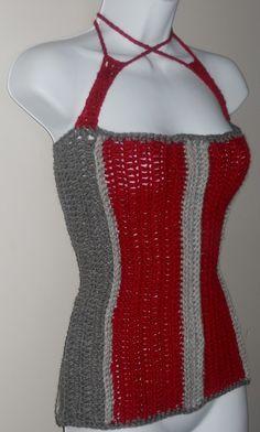 Instant Download Pattern Crochet Corset Top Pattern by GuChet, $5.00