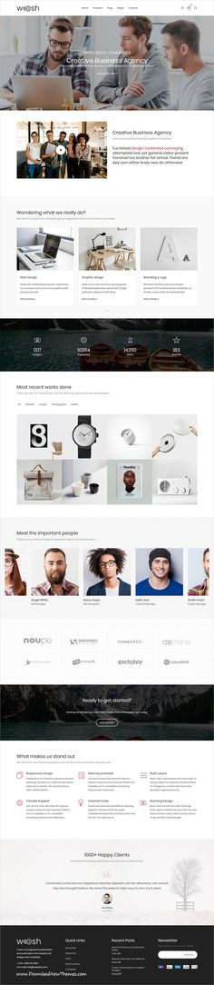 Wosh is clean and modern design 5in1 responsive #Drupaltemplate for awesome #business agency and eCommerce website to live preview & download click on image or Visit #webdeveloper