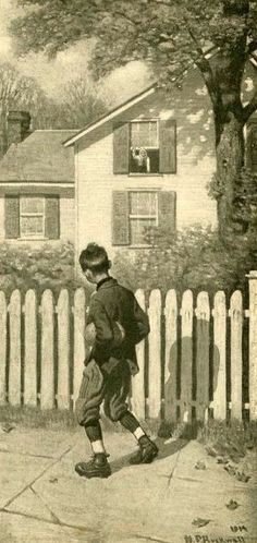Tommy Appeared At An Up-Stairs Window   -   Norman Rockwell