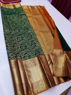 Silk Saree Kanchipuram, Chanderi Silk Saree, Silk Sarees, Bridal Braids, Vibrant, How To Wear, Collection, Color, Fashion