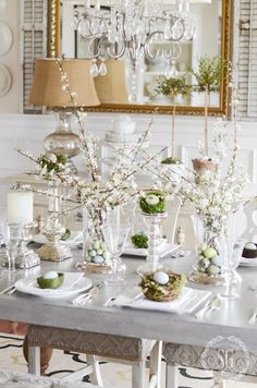 A beautiful Easter table - The Enchanted Home
