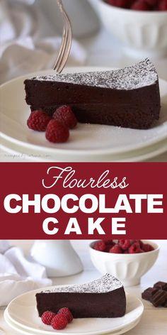 Best Flourless Chocolate Cake, Chocolate Mousse Cake, Flourless Chocolate Cakes, Chocolate Recipes, Chocolate Cake Recipe Videos, Decadent Chocolate Cake, Decadent Cakes, Gluten Free Chocolate, Delicious Chocolate