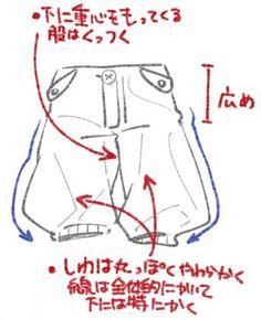 服のシワを描くときのコツ!シャツ、ズボン、スカートをイラストで解説|お絵かき図鑑 Hand Reference, Drawing Reference Poses, Drawing Tips, Drawing Sketches, Art Drawings, Drawing Faces, Drawing Clothes, Manga Clothes, Clothing Sketches