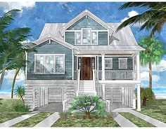 Bluefin Channel   Coastal Home Plans (2,788 Heated Sf, 4bd/3.5ba)