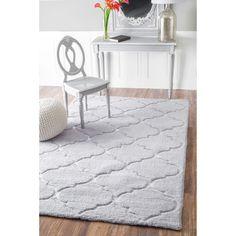 Nuloom Handmade Geometric Soft And Plush Trellis Grey Shag Rug 7 6 X 9 Bedroom Area Rugsnursery