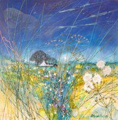 Deborah Phillips - like her work. Landscape Artwork, Abstract Landscape Painting, Watercolor Landscape, Scenary Paintings, Plein Air, Painting Inspiration, Collage Art, Folk Art, Decoration