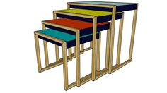 Nesting Tables - Josef Albers - Vitra - 3D Warehouse