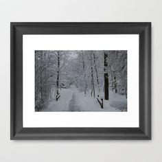 White World Framed Art Print by Lisa De Rosa Essence of Life Photography $37.00 - society6.com/LisaDeRosa