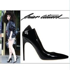"@ladygaga in #brianatwood ""Mercury"" pump in NYC. #thesexisintheheel #Padgram"