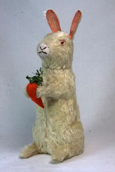 Antique German Large Easter Rabbit Candy Container c1910