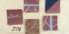 DIY - Porta-copo de couro O couro é um material super versátil, fácil de encontrar e barato. Além disso, existem no mercado várias opções do que chamam de couro ecológico, que é um produto ecologicamente correto e mais barato, porque é sintético.