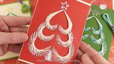 Carte Sapin de Noël brodé en fils tendus à imprimer - Tuto vidéo