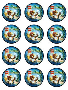 Lego Chima Edible Cake Topper 12 2 inch cupcakes by TammysToppers, $8.00
