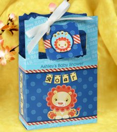 Cute favor bag for your lion or king of the jungle theme shower