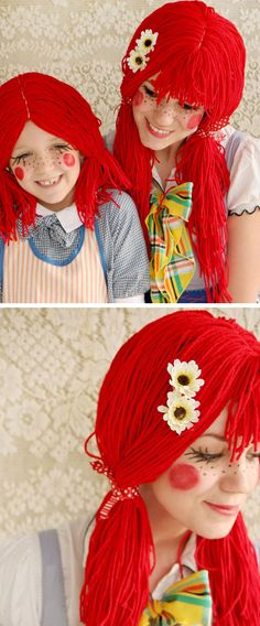 Raggedy Anne Doll | Click Pic for 22 Easy DIY Halloween Costumes for Women 2014 | Last Minute Halloween Costumes for Women