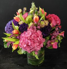 Flower delivery in Orange by Orange florist - A gorgeous arrangement full of hydrangeas, tulips,calla lilies and more for that special someo...