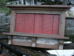 Rustic Reclaimed Barnwood Entry Shelf by EchoPeakDesign on Etsy