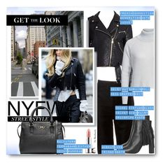 """""""NYFW Street Style"""" by beebeely-look ❤ liked on Polyvore featuring Chanel, French Connection, Noisy May, Topshop, By Terry, Salvatore Ferragamo, GetTheLook, StreetStyle, NYFW and PolyvoreNYFW"""