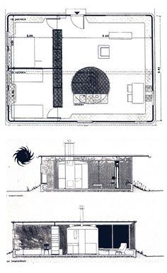 Maison des Jours Meilleurs,  Jean PROUVÉ, 1956 commandé par l'Abbé Pierre après l'hiver 54