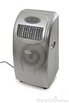 Modern mobile air conditioner. http://www.dreamstime.com/royalty-free-stock-photography-mobile-air-conditioner-image19835797
