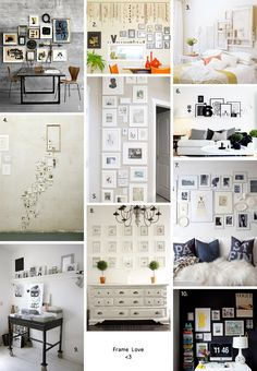 great examples of some wall galleries - link doesn't take you to the details, though