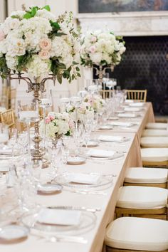 beautiful wedding flowers on table