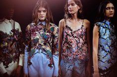 Model Street Style tumblr. Backstage at the Mary Katrantzou SS 2015 Presentation in London.