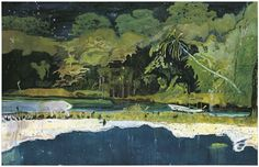 View Grande Riviere by Peter Doig at Victoria Miro in Wharf Road, London, United Kingdom. Discover more artworks by Peter Doig on Ocula now. Peter Doig, Contemporary Landscape, Abstract Landscape, Landscape Paintings, Art Inuit, Imagen Natural, Pierre Auguste Renoir, Art Moderne, Conceptual Art