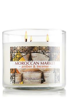 Moroccan Market - Amber & Incense 14.5 oz. 3-Wick Candle - Slatkin & Co. - Bath & Body Works