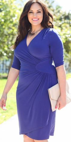 Shop plus size wrap dresses by Kiyonna Clothing online. Cue the compliments with our Ciara Cinch Dress. Plus Size Dresses, Plus Size Outfits, Nice Dresses, Wrap Dresses, Amazing Dresses, Stunning Dresses, Beach Dresses, Maxi Dresses, Wedding Dresses